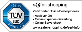Zisternenhandel.de TÜV s@fer-shopping Zertifikat