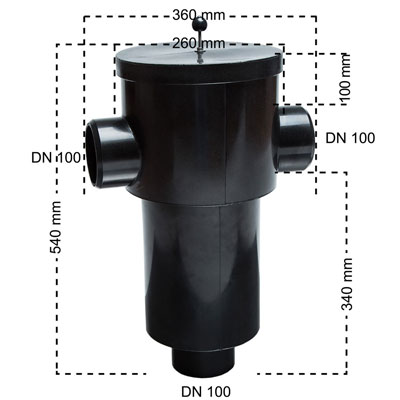 Regenwasserfilter Gartenfilter S Abmessungen