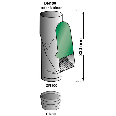 3P Laubabscheider grau Abmessungen