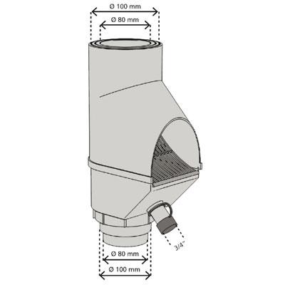 3P Laubabscheider mit Füllfunktion grau Abmessungen