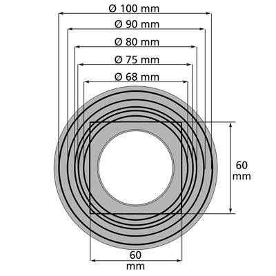 3P Regensammler standard braun Rohrdurchmesser