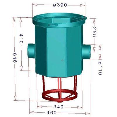 Regenwasserfilter Simplexfilter SPF Abmessungen