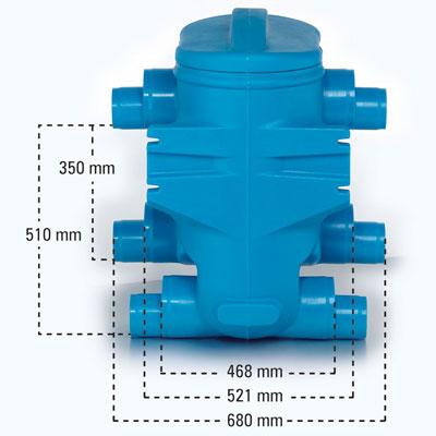 Regenwasserfilter Twinfilter Abmessungen