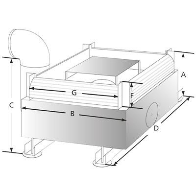 3P Volumenfilter VF12 Abmessungen