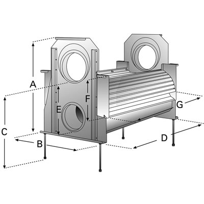 3P Volumenfilter VF2 Abmessungen