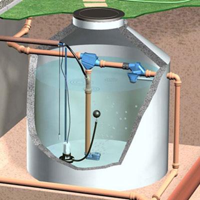 Regenwasserfilter Zisternenfilter ZF Anwendungsbeispiel