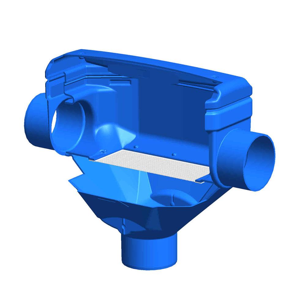 Regenwasserfilter Premiumfilter DN 150 Funktionsprinzip
