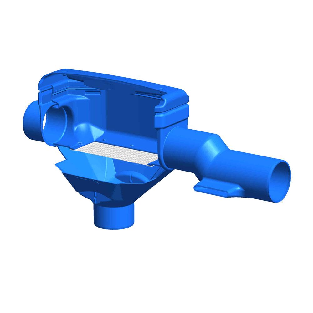 Regenwasserfilter Premium Skimmerfilter DN 150 Funktionsprinzip