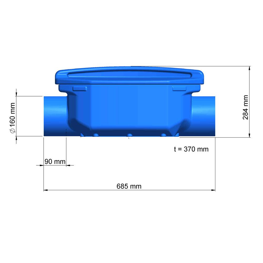Regenwasserfilter Verrieselungsfilter DN 150 Abmessungen