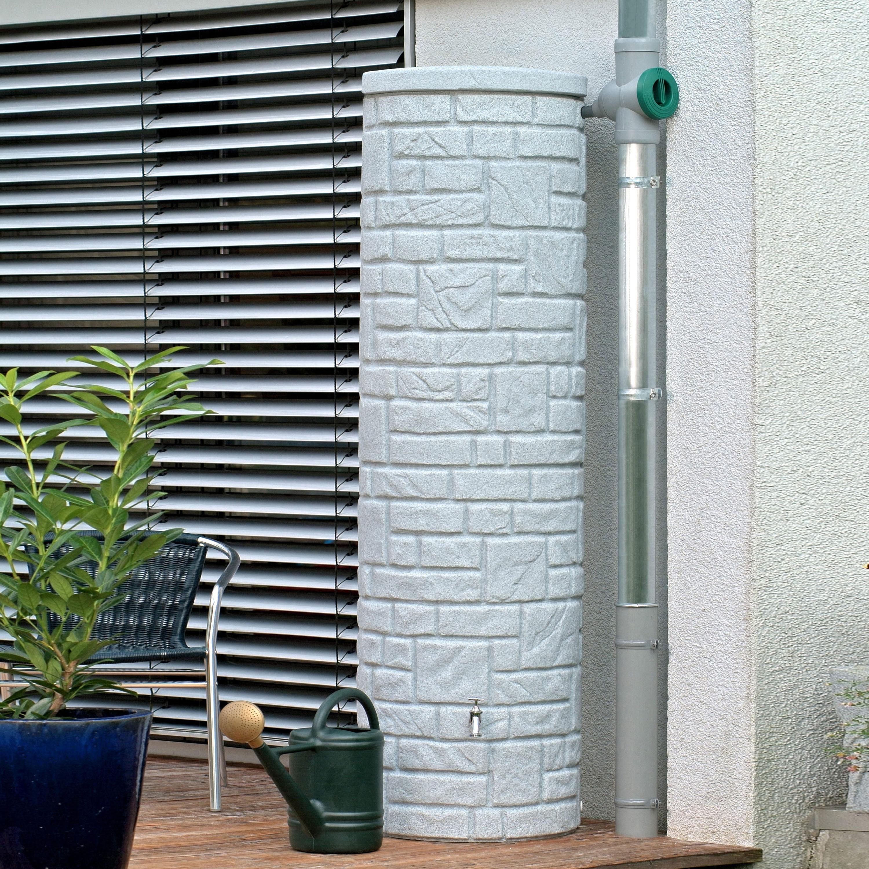 Regenwassertonne grau Arcado 460 liter