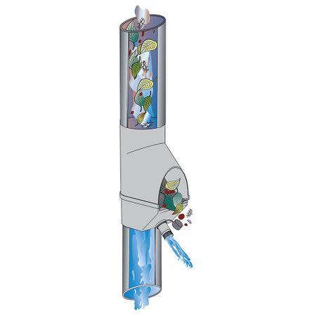 Fallrohrfilter mit Füllfunktion braun – Bild 2