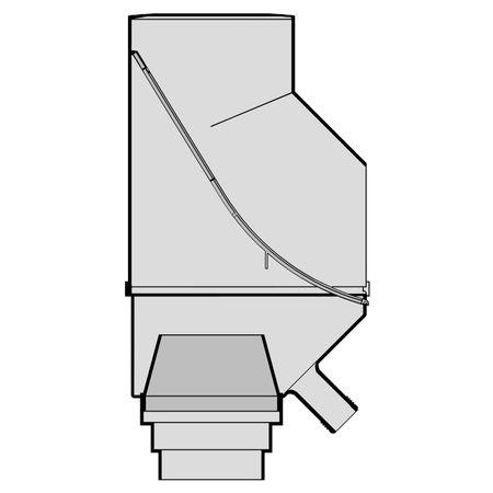 Fallrohrfilter mit Füllfunktion grau – Bild 3
