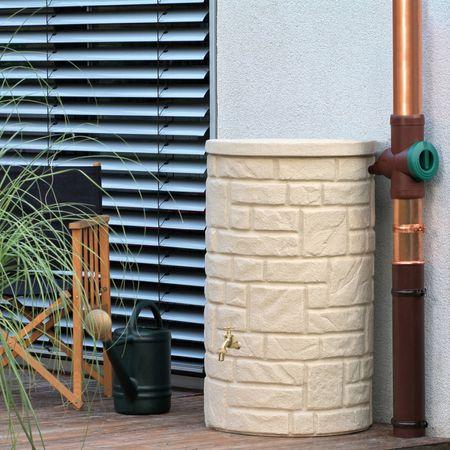 Regentonne Arcado 230 liter sandstein