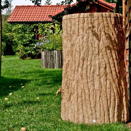 Regenwassertonne Baumstamm Evergreen 475 liter hellbraun – Bild 3