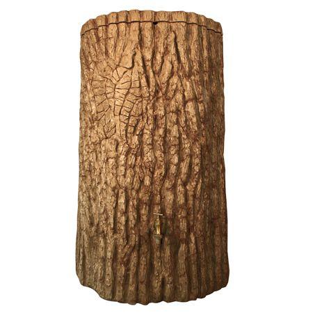 Regenwassertonne Baumstamm Evergreen 475 liter hellbraun – Bild 2