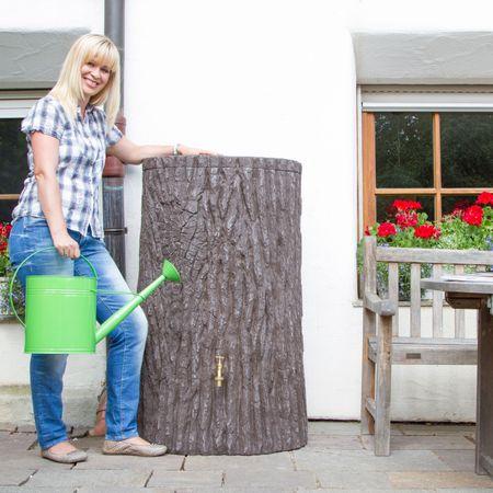 Regenwassertonne Baumstamm Evergreen 475 liter braun – Bild 1