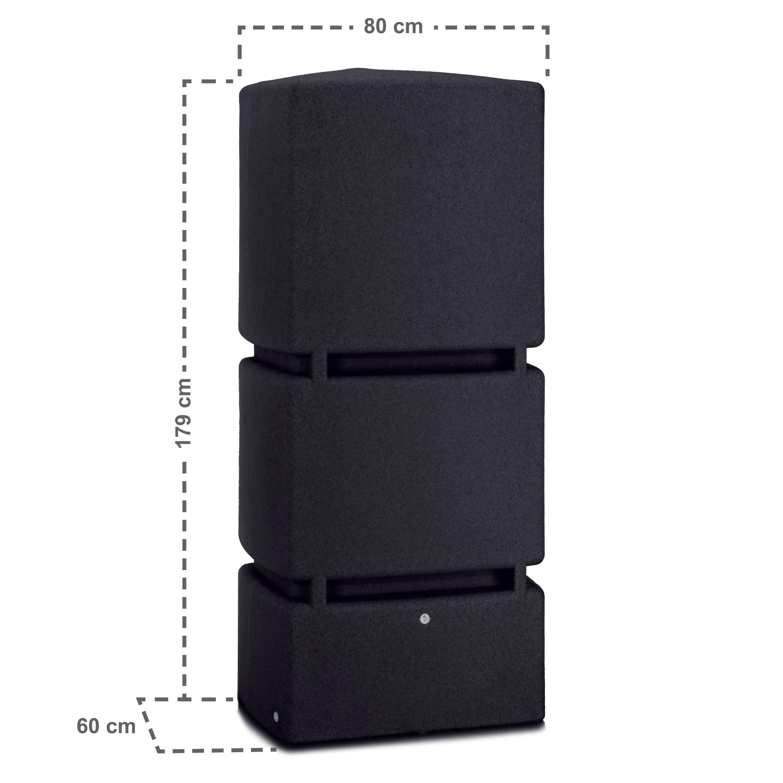 regentonne eckig jumbo 800 liter schwarz. Black Bedroom Furniture Sets. Home Design Ideas