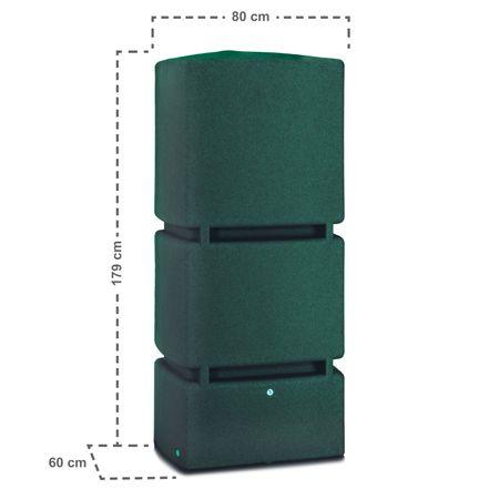 Regenwassertonne eckig Jumbo 800 liter grün – Bild 4
