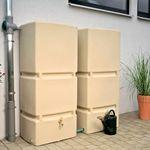 Regentonne eckig Jumbo 800 liter sandstein 001