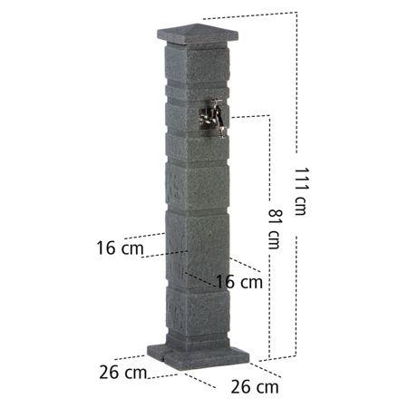 Zapfstelle anthrazit Romana mit Steckkupplung – Bild 4