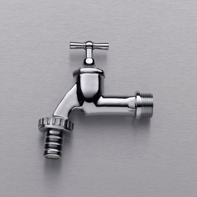 """Wasserhahn chrom 3/4"""", inkl. Teflonband"""