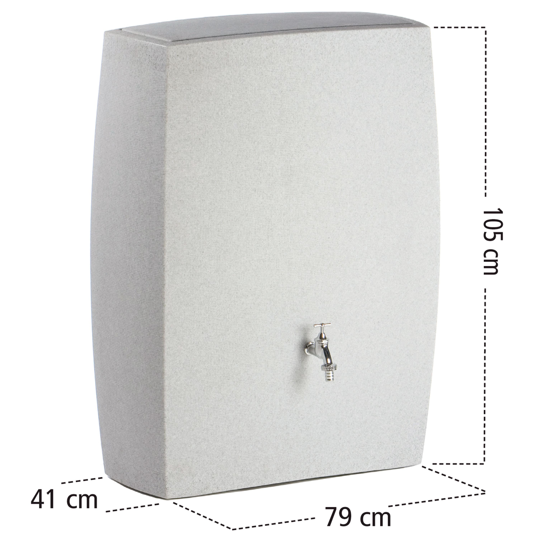 regentonne anthrazit noblesse 275 liter. Black Bedroom Furniture Sets. Home Design Ideas