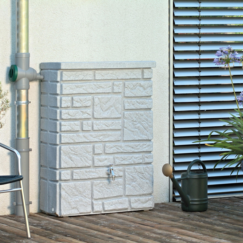 regentonne 300 liter eckig maurano grau. Black Bedroom Furniture Sets. Home Design Ideas