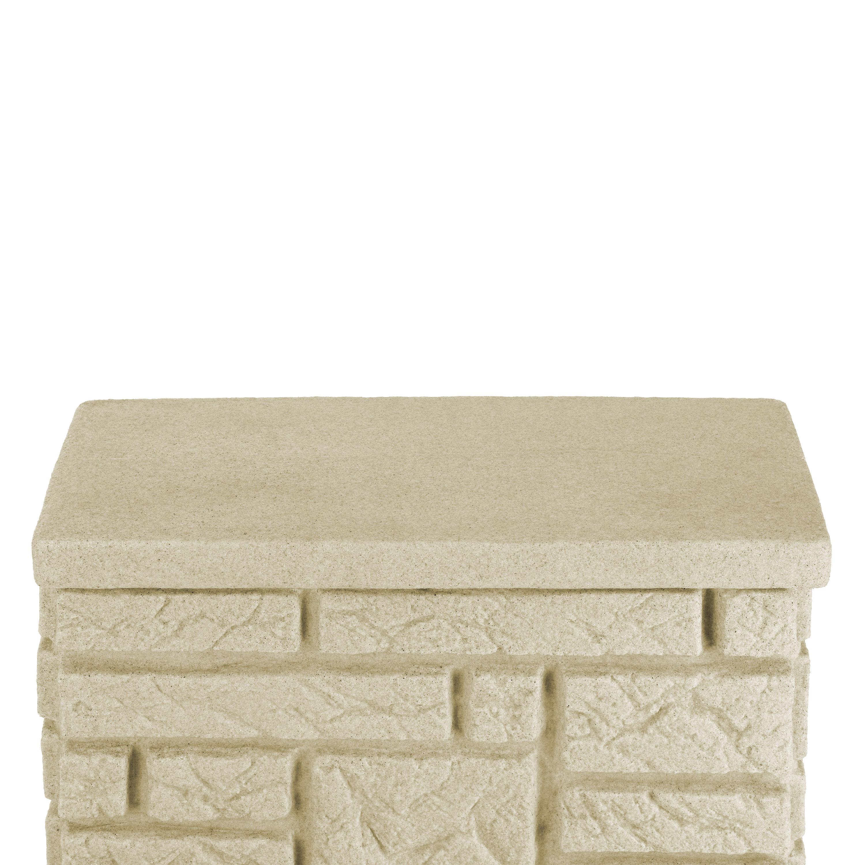 regentonne 300 l eckig maurano sandstein. Black Bedroom Furniture Sets. Home Design Ideas