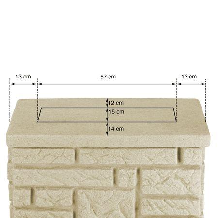 Regenwassertonne 300 l eckig Maurano sandstein – Bild 5