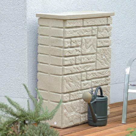 Regenwassertonne 300 l eckig Maurano sandstein – Bild 3