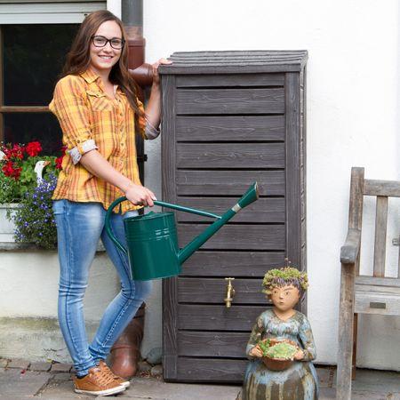 Regentonne eckig Norway 230 liter braun