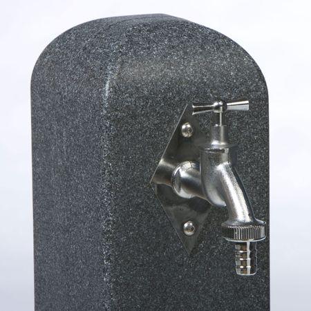 Zapfstelle anthrazit Poller mit Steckkupplung – Bild 3