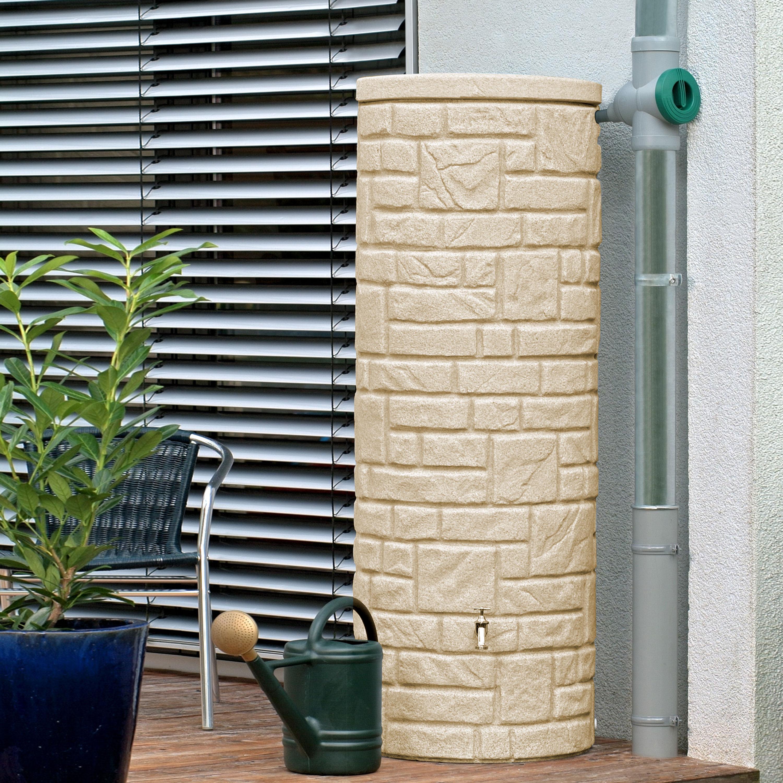Regentonne Arcado 360 liter sandstein