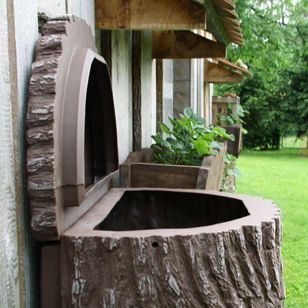 Regenwassertonne 300l Evergreen lite braun – Bild 4