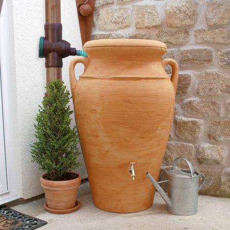 Regenwassertonne Amphore Helena 300 liter terracotta – Bild 2