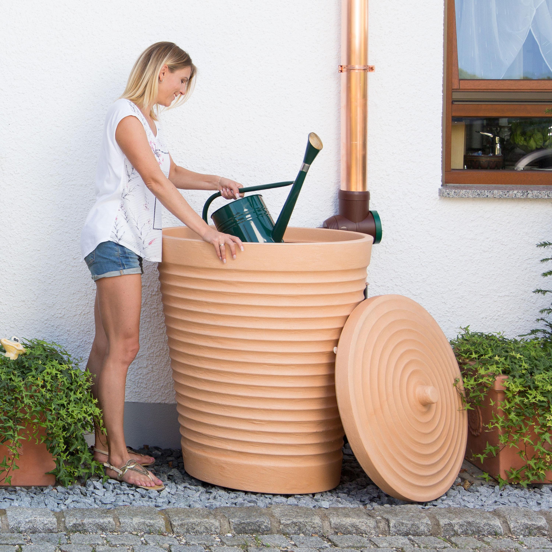 Regentonne terracotta Trentino 275 liter