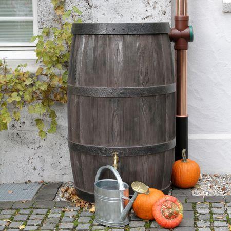 Regenwassertonne Regenfass Burgund 500 liter braun – Bild 2