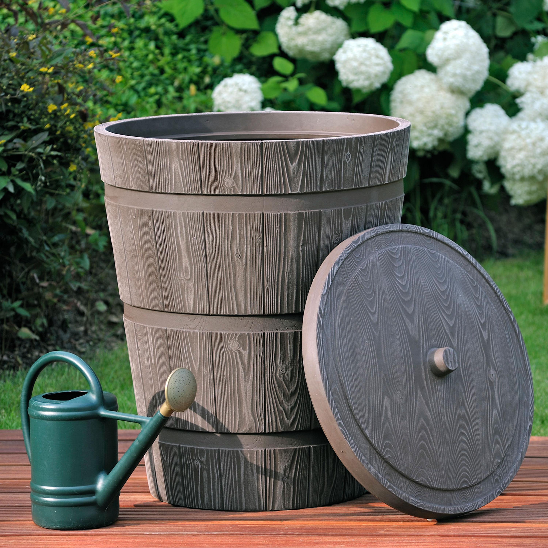 regentonne holzoptik rustico 275 liter braun. Black Bedroom Furniture Sets. Home Design Ideas