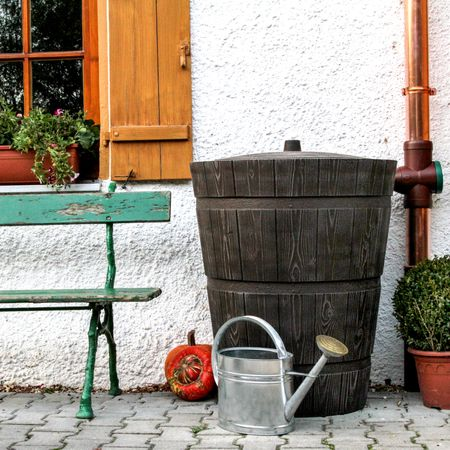 Regenwassertonne Holzoptik Rustico 275 liter braun – Bild 1