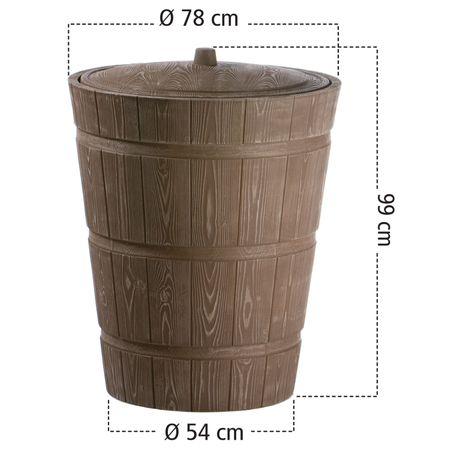 Regenwassertonne Holzoptik Rustico 275 liter braun – Bild 4