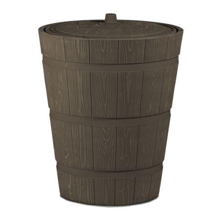 Regenwassertonne Holzoptik Rustico 275 liter braun – Bild 2