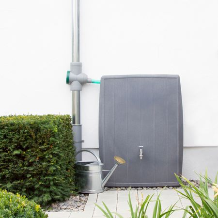Regentonne eckig Concrete 200 liter grau
