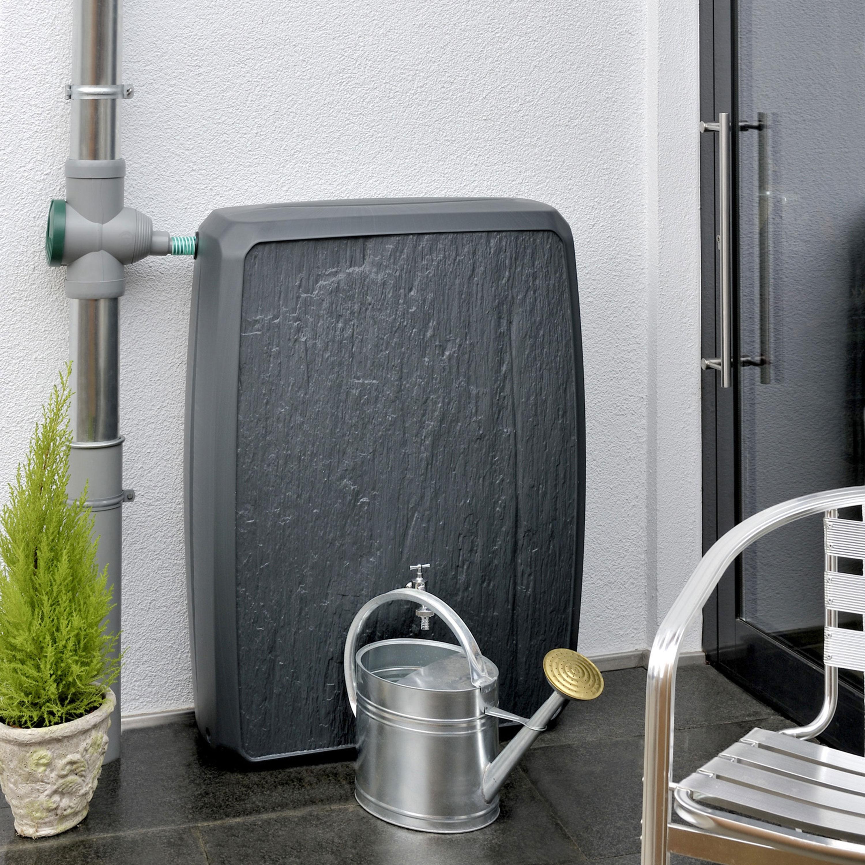 regentonne eckig multitank 250 liter anthrazit. Black Bedroom Furniture Sets. Home Design Ideas