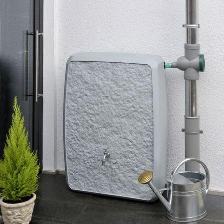 Regenwassertonne eckig Multitank 250 liter grau – Bild 1
