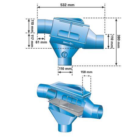 Zisternenfilter ZF Höhenversatz 117 mm