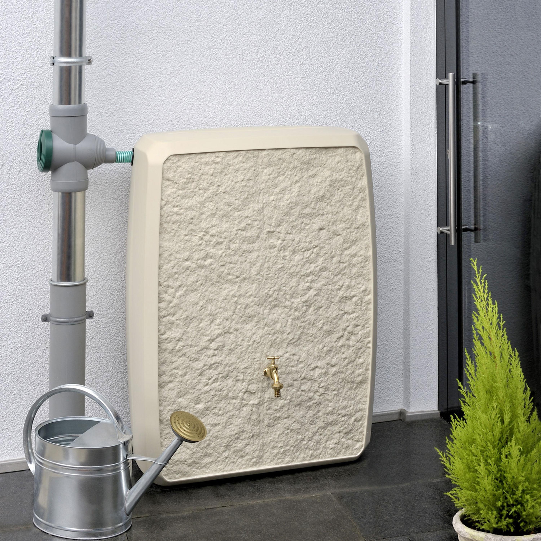 Regentonne eckig Multitank 250 liter sandstein