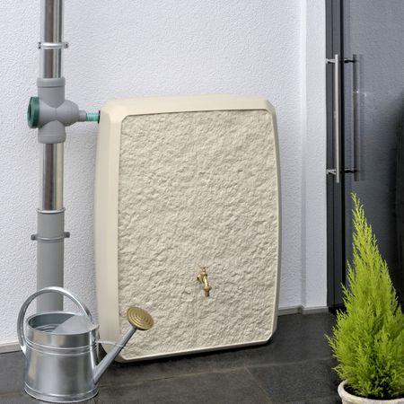 Regenwassertonne eckig Multitank 250 liter sandstein – Bild 1