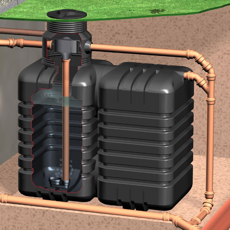 Zisterne AquiriRain ST inkl. Zisternenfilter-Set Inox