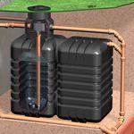 Regenwassertank AquiriRain ST inkl. Zisternenfilter-Set Inox