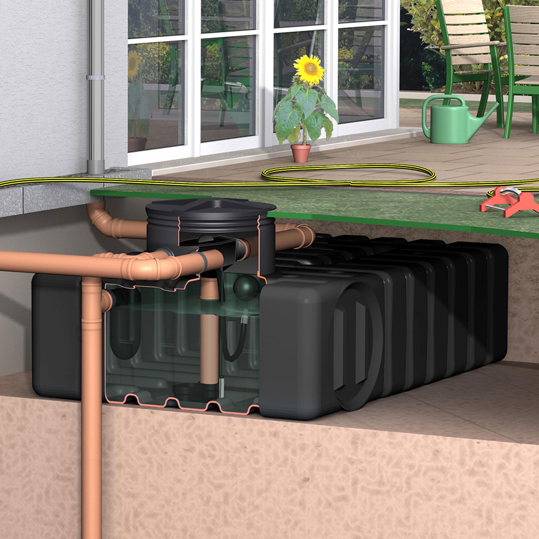 zisterne aquirirain ft inkl. zisternenfilter-set inox